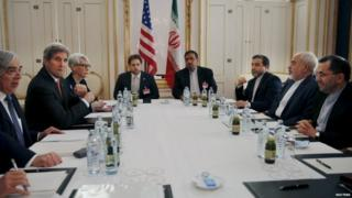 US and Iranian senior officials meet at a hotel in Vienna, Austria on Sunday