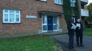 Saffron Square block of flats in the Catton Grove area of Norwich