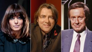 Past Film presenters, from left: Claudia Winkleman, Jonathan Ross and Barry Norman
