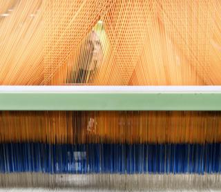 Weaving department at AW Hainsworth, based in Leeds