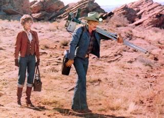 Džejn Fonda i Robert Redford u filmu Električni konjanik iz 1979.