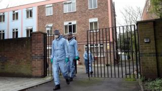 Forensic team in Streatham after the Streatham terror attack