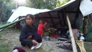 တိုက်ပွဲတွေကြောင့် ဘေးလွတ်ရာတိမ်းရှောင်နေရတဲ့ ဒုက္ခသည်တချို့