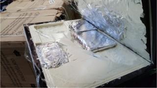 Alleged drugs hidden inside refrigerator