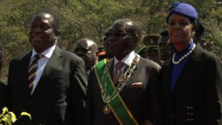 Emmerson Mnangagwa, Robert Mugabe, Grace Mugabe