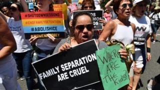 Демонстрация протеста в Вашингтоне, 28 июня 2018 г.