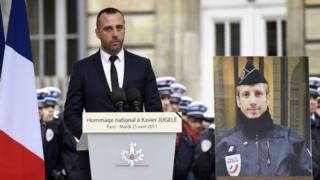 Загибель поліцейського і промова його партнера на траурній церемонії спричинили у Франції резонанс