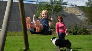Lala Holden on a swing - parental permission given