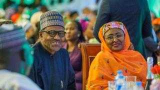 Aworan apejẹ idupẹ Aisha Buhari