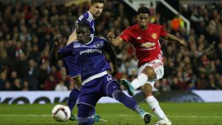 "Manchester United""s Marcus Rashford scores their second goal Reuters"