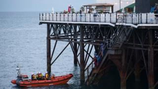 Brighton Palace Pier search for naked man