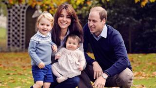 The Duke and Duchess of Cambridge and their children George and Charlotte