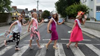 Why did the Roses cross the road? Some of this year's competitors stopping traffic