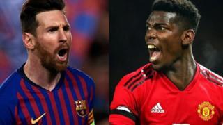 Lionel Messi ati Paul Pogba