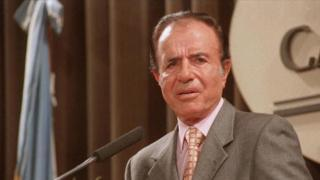 Carlos Menem in 1999