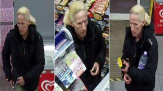 CCTV footage of Lisa Lacey