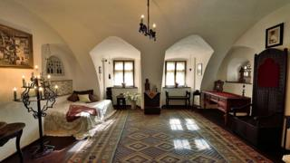 Одна из комнат в замке Бран