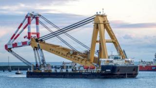 Crane in Peterhead