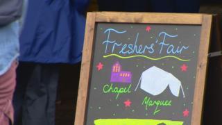 Freshers' Fair sign