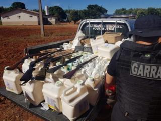 Armas e agrotóxicos roubados