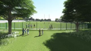 Artist's impression of the new Pontypool Park