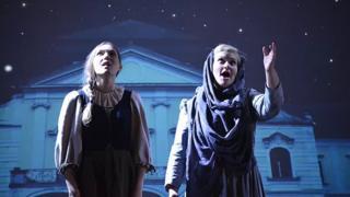 Cinderella (left) - scene from opera