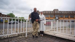 Abed Al Souways and his wife Ghaydaa