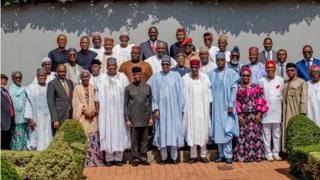 Buhari and him cabinet