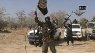 A screen grab from a video of Nigerian Islamist extremist group Boko Haram made on January 20, 2015