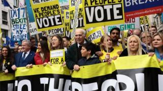 March organised by the Peoples Vote campaign, March 23rd 2019