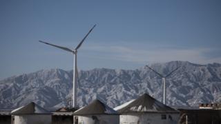 Wind turbines in Guanting near Beijing