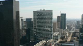 Skyline of La Defense business district in Paris
