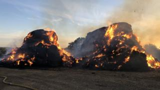 Potters Bar haystack fire