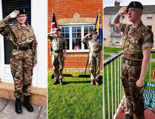 in_pictures Army cadets salute