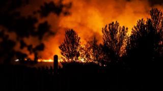 Fire in Ashdown Forest