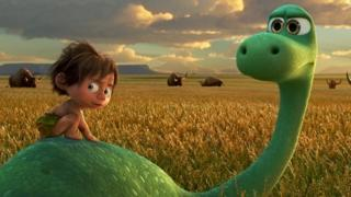 Arlo is an 11 year-old Apatosaurus, with confidence issues, who works on his family's farm.