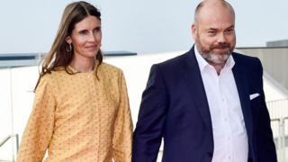 Anders Holch Povlsen y su mujer