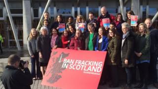 Labour fracking photocall