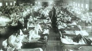 مرضى وباء الأنفلونزا في القرن الماضي