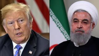 Trump y Rouhani