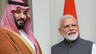 सऊदी अरब के प्रिंस और मोदी