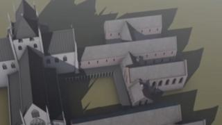 One of the images of the abbey used in the CGI