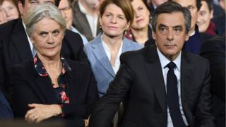 Penelope and François Fillon at a rally in 2017