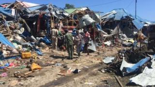 Abantu 8 nibo bamaze kumenyekana ko bahitanywe n'igisasu catezwe Mogadishu