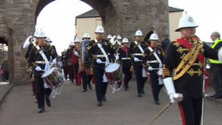 Parade in Monmouth