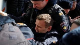 بازداشت رهبر مخالفان روسیه