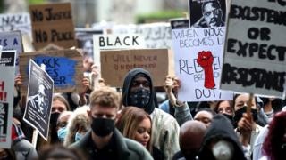 Protesters in central London on Saturday