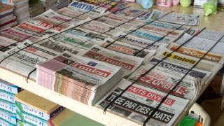 Newspapers in Gabon