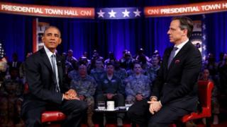 ABD Başkanı Barack Obama ve CNN sunucusu Jake Tapper