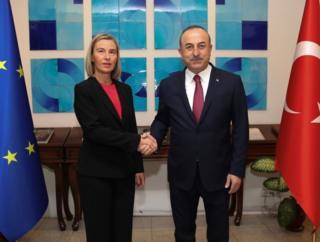 Federica Mogherini ve Mevlüt Çavuşoğlu